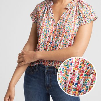 Print Ruffle Top | Gap Factory