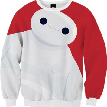 Baymax Sweatshirt created by Alessandro Aru | Print All Over Me