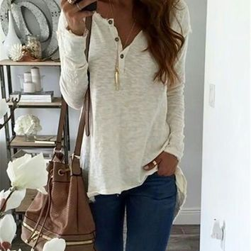 Fashion Women Casual  Ladies Tops for Lady Autumn Winter Long Sleeve Clothing