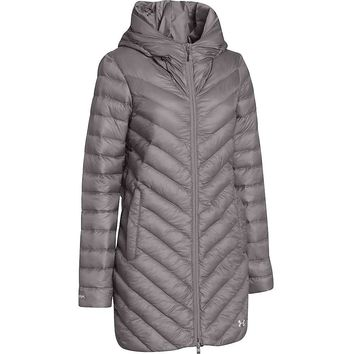 Under Armour Coldgear Infrared Uptown Parka - Women's XL - Steeple Gray / Ivory