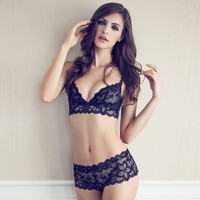 Wireless Comfy Bralette Underwear Set 11419