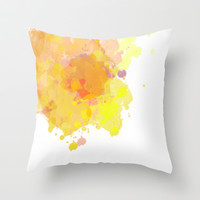 Yellow Watercolors. Throw Pillow by Abigail Ann | Society6