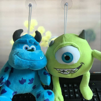 Free shipping 20cm Monsters Inc Monsters University  1pcst Monster Mike Wazowski or James P. Sullivan plush toy for kids gift