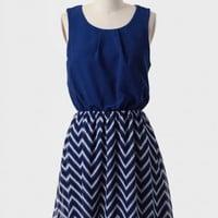 Blue Moon Colorblocked Dress