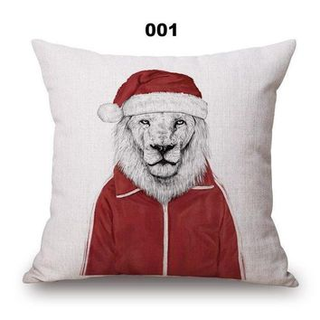CREYXF7 Animal portrait cotton pillow