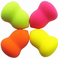 4 PCS Pear Makeup Blender Sponge Flawless Smooth Pro Beauty Powder Puff