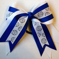 Small Volleyball Hair Bow