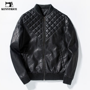 Male Leather Jacket Coat Motorcycle Jacket Bomber Leather Jacket Men Black Faux Leather Motorbike Coat