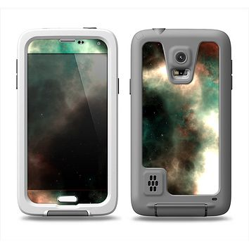 The Dark Green Glowing Universe Samsung Galaxy S5 LifeProof Fre Case Skin Set