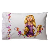 Disney Tangled Pillowcase - Pink (standard)