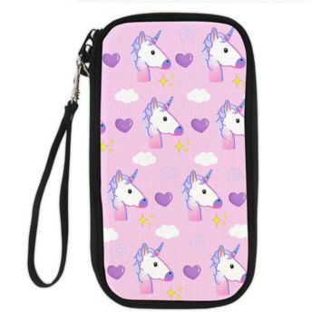 Unicorn Clutch Wallet (unicorns and hearts)