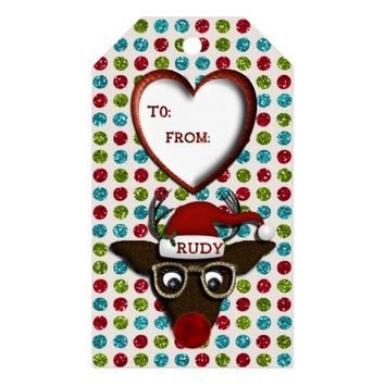 Rudolph Christmas GIFT TAGS