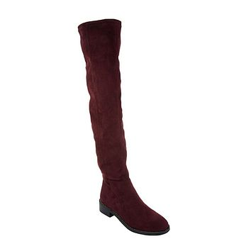 """As Is"" Franco Sarto Bailey Faux Suede Over-the-Knee Boots"