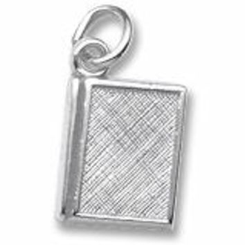 Book Charm In 14K White Gold