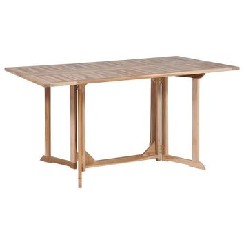 Folding Butterfly Dining Table Solid Teak 150x90x75 cm