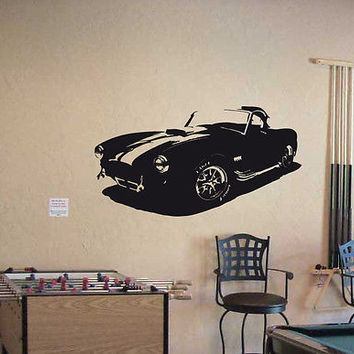 Wall Vinyl Decal Sticker Interior Design Car Logo AC SHELBY COBRA CLASSIC 018