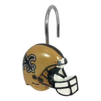 New Orleans Saints NFL Shower Curtain Rings [12 Rings Per Box]