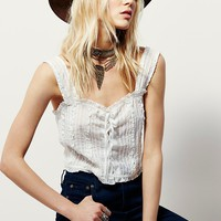 Free People Prairie Lace-Up Cami