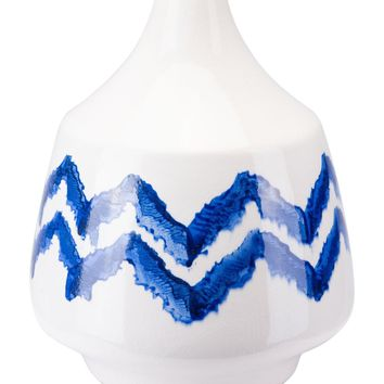 Chevron Bottle Small Cobalt