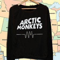 Arctic Monkeys Music Indie Pop Rock crew neck sweatshirt pullover long sleeved
