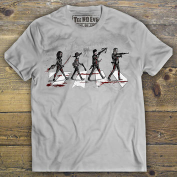 The Walking Dead Shirt, Daryl Dixon shirt, Rick Grimes shirt, Michonne shirt, Abbey Road, Men