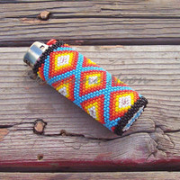 Native American Beaded Lighter Cover - MANITOU SPRINGS