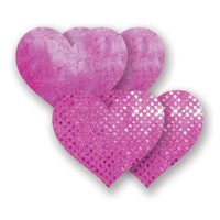 Nippies® Rio Heart Pink Lace Pasties Rio Heart Pasties Pink A-DD