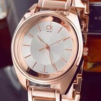 CK Calvin Klein Popular Women Men Personality Simple Quartz Movement Watch Watch Wrist Rose Gold I-YF-GZYFBY