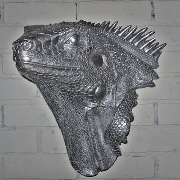 READY TO SHIP/ Iguana Head / Faux Taxidermy / by Theshabbyshak