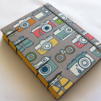 Organic Fabric Journal - Coptic Stitched - Cameras
