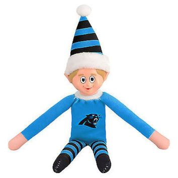 Carolina Panthers Holiday Christmas Team Elf with Santa Hat n Shirt NFL