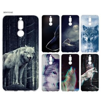 BINYEAE Case Cover for Huawei Mate 10 P20 P10 Lite Pro Soft TPU Silicone Coque Classic Cool Wolf Hipster the Sirius Print