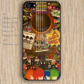 iPhone 5s 6 case beatles colours guitar dream catcher colorful phone case iphone case,ipod case,samsung galaxy case available plastic rubber case waterproof B555