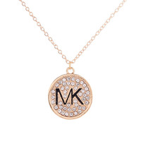 Shiny New Arrival Jewelry Christmas Gift Alloy Accessory Stylish Diamonds Alphabet Necklace [8573610317]