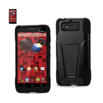 New Motorola DROID Mini Hybrid Heavy Duty Case With Kickstand In Black