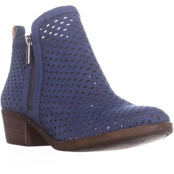 Lucky Basel3 Perforated Ankle Boots, Dark Chambray, 6.5 US