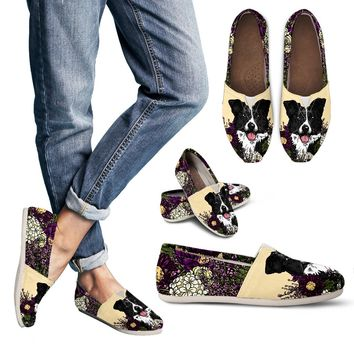 Illustrated Border Collie Casual Shoes