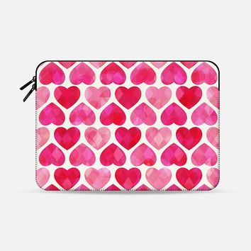 "RUBY HEARTS Macbook 12"" sleeve by Daisy Beatrice 