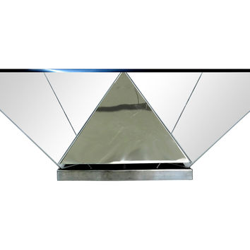 Angled Lucite  & Metal Coffee Table