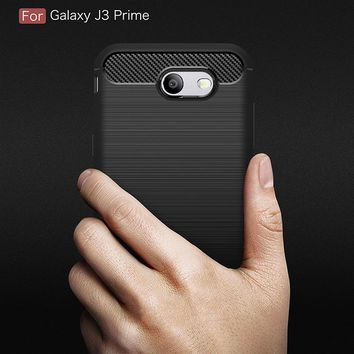 Effelon Case For Samsung J3 Prime Brushed Drawing Silicone Cover Cases For Case Samsung Galaxy J3 Prime Mobile Phone Shell Coque