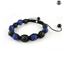 Blue and Black Crystal Bracelet