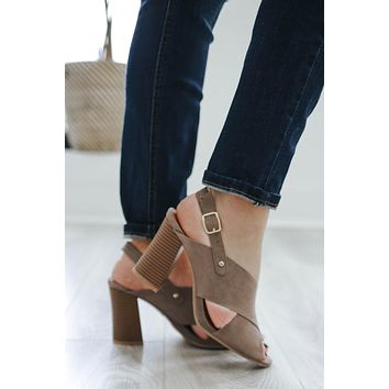 Simple Soiree Heels - Taupe