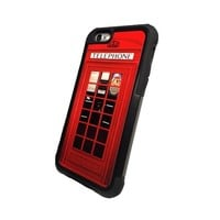 Red Vintage London British Phone booth High Quality iPhone 6 plus case with extra protection - 2 piece rubber lining iPhone 6 plus (5.5 inch) case