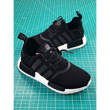 Adidas Nmd R1 Pk Boost Black White Sport Running Shoes