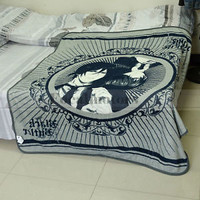Anime Black Butler Coral Fleece Bedding Throw Blanket Rug Plush Kuroshitsuji New