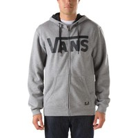 Vans Classic Zip Hoodie (Concrete Heather/Midnight)