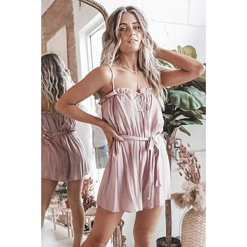 Think Outside The Box Mauve Romper