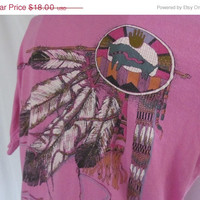Buffalo Native American Indian T shirt Tribal T Shirt Indian Feathers Buffalo shirt