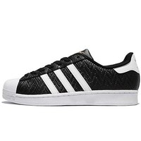 adidas Men's Superstar, BLACK/WHITE