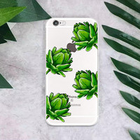 Watercolor Green Leaves iphone case